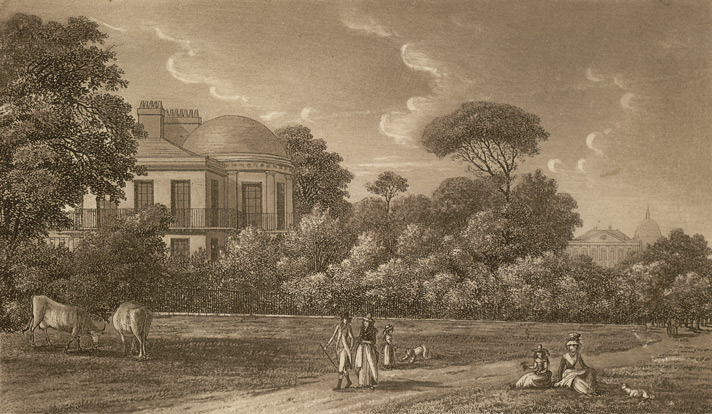 View of the Lodge in the Green Park